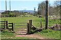 SO0527 : Gate on riverside public footpath by M J Roscoe