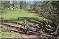 SO0627 : Gate on riverside public footpath by M J Roscoe