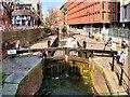 SJ8497 : Rochdale Canal, Princess Street Lock (#87) by David Dixon
