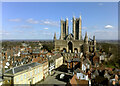 SK9771 : Lincoln Cathedral seen from the castle by habiloid