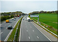 SE3204 : The M1 from the Trans-Pennine Trail bridge, Dodworth by Humphrey Bolton