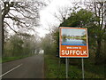 TM0378 : Welcome to Suffolk at the source of the River Waveney by Adrian S Pye