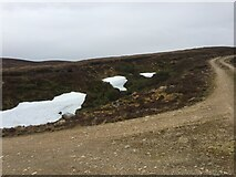 NH7722 : Still some snow on track to Carn Dubh Ic An Deoir by thejackrustles