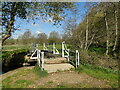 TM2280 : Footbridge over the River Waveney at Needham by Adrian S Pye