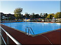 TM4190 : Beccles Lido before opening by Adrian S Pye
