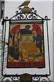 TM3979 : Sign of the Triple Plea pub, north of Halesworth by Christopher Hilton