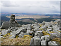 NX5998 : The cairn at Blue Stones, Cairnsmore of Carsphairn by James T M Towill