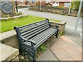 SE2528 : Bench at the entrance to Gildersome by Stephen Craven
