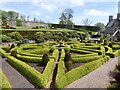 ST0519 : Parterre garden at Holcombe Court, in the parish of Holcombe Rogus by Marika Reinholds