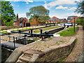 SJ9097 : Ashton Canal, Fairfield Lock (#18) by David Dixon
