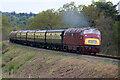 SO8074 : Severn Valley Railway - a Warship near Droppingwells Farm by Chris Allen