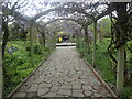 TQ3474 : Pergola in the Sexby Garden, Peckham Rye Park by Marathon