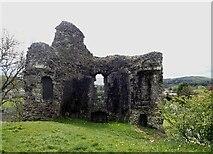 SN7634 : Llandovery Castle (Castell Llanymddyfri) - western keep walls by Rob Farrow