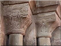 SO4522 : Garway - St Michael's Church - Chancel Arch - column capitals by Rob Farrow