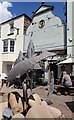 SO5924 : Ross on Wye - The Man of Ross PH with fish sculpture by Rob Farrow