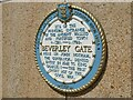 TA0928 : Plaque for the Beverley Gate, Hull by Stephen Craven