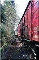 SO7975 : Severn Valley Railway - vans in the yard at Bewdley by Chris Allen