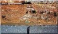 NY4154 : Benchmark on NE parapet of Harraby Bridge by Luke Shaw