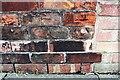 NY4154 : Benchmark on Chertsey Bank wall of No. 34 Lazonby Gardens by Luke Shaw