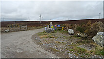 NJ3646 : Hill of Towie Wind Farm West Entrance by Anne Burgess