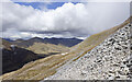 NN2265 : Scree on slope west-north-west of summit of Sgùrr Eilde Mòr by Trevor Littlewood