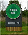 NS4037 : Sign for the Cotton Mill Cookhouse and Pub by JThomas