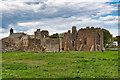 NU1241 : Lindisfarne Priory by David Dixon