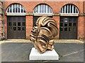 TF7928 : Tony Cragg at Houghton Hall - A close view of Migrant  (2015) by Richard Humphrey