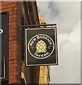 SK3389 : The sign of the New Barrack Tavern by David Lally