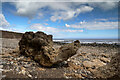 NZ4443 : Boulder at Fox Holes by Andy Waddington