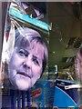 TQ2579 : Merkel mask in shop window, South Kensington by Alan Paxton