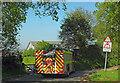SX8763 : Fire engine, Occombe by Derek Harper
