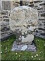 SW6620 : Old Wayside Cross in the churchyard in Gunwalloe parish by L Nott