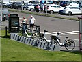NS9081 : Electric bike hire station at the Kelpies by Oliver Dixon