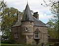 NO5299 : West lodge, Aboyne Castle by Bill Harrison