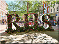 SJ8398 : Manchester Flower Show, RHS Display in St Ann's Square by David Dixon
