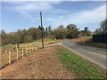SP3173 : HS2 enabling works, Dalehouse Lane, Kenilworth, March 2021 (5) by Robin Stott