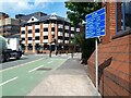 SE2933 : Cycle route signage, Northern Street by Stephen Craven