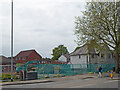 SO9196 : Demolition site by Aldi at Fighting Cocks, Wolverhampton by Roger  Kidd