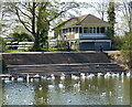 SO8454 : Boat house along the River Severn at Worcester by Mat Fascione