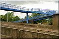 NZ2757 : Footbridge across the A1 at Birtley by David Dixon