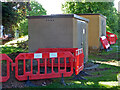 SO8754 : Gas infrastructure by Newtown Road, Worcester by Chris Allen