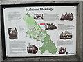 SP8710 : Information Board re Halton's Heritage by David Hillas