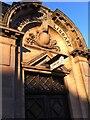 SP3278 : Entrance portal, Earlsdon Carnegie Community Library by Alan Paxton