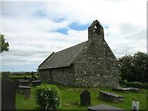 SH3786 : The church of St Pabo at Llanbabo by David Purchase