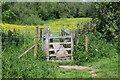 SO3309 : Gated footbridge, The Bryn by M J Roscoe