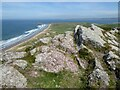 SS4190 : Rock outcrop above Rhossili Bay by Philip Halling