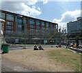 SJ8498 : Construction at Piccadilly Gardens by Gerald England
