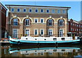SO8553 : Barge moored at Armstrong House by Mat Fascione