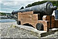SM9637 : Fishguard, Lower Town: Cannon by Michael Garlick
